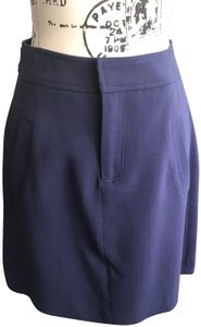 Pink Tartan Wool Lined Skirt Royal Blue