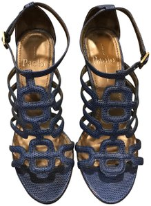 Linea Paolo Strappy High Heel Blue Sandals