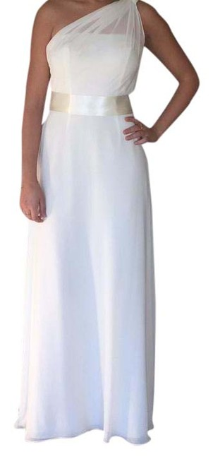 Item - White Silk Casual Wedding Dress Size 4 (S)