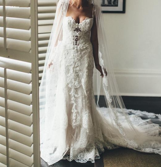 Eve Of Milady Ivory Beaded Silk 1559 Fit And Flare Gown