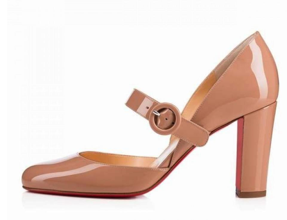 hot sale online 2290d d3b0a Christian Louboutin Nude Miss Kawa 85mm Mary Jane A577 Pumps Size EU 40.5  (Approx. US 10.5) Regular (M, B) 29% off retail