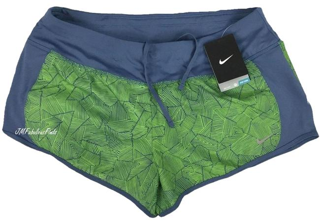 """Item - Green Women's 719887-404 3"""" & Gray 2-in-1 Brief Running Shorts Activewear Bottoms Size 12 (L, 32, 33)"""
