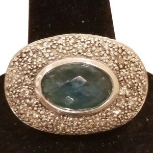 David Yurman David Yurman Diamond Midnight Melange Blue Topaz Silver Ring
