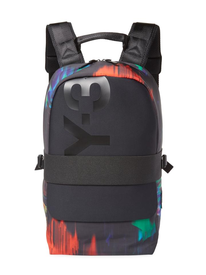 a7b3a703bfdf Y-3 New Y3 Qasa Graphic Laptop Travel Rucksack Black Multi Color ...