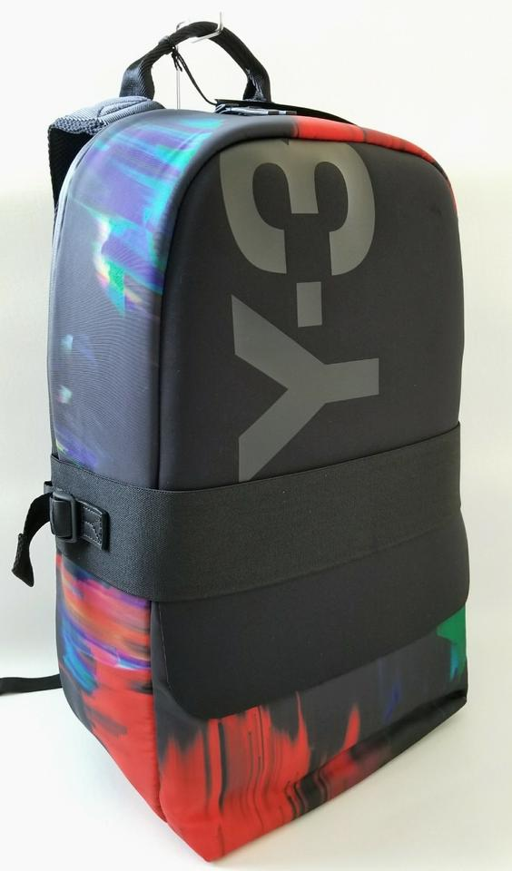 Y-3 New Y3 Qasa Graphic Laptop Travel Rucksack Black Multi Color Nylon  Backpack - Tradesy 67de66003d21d