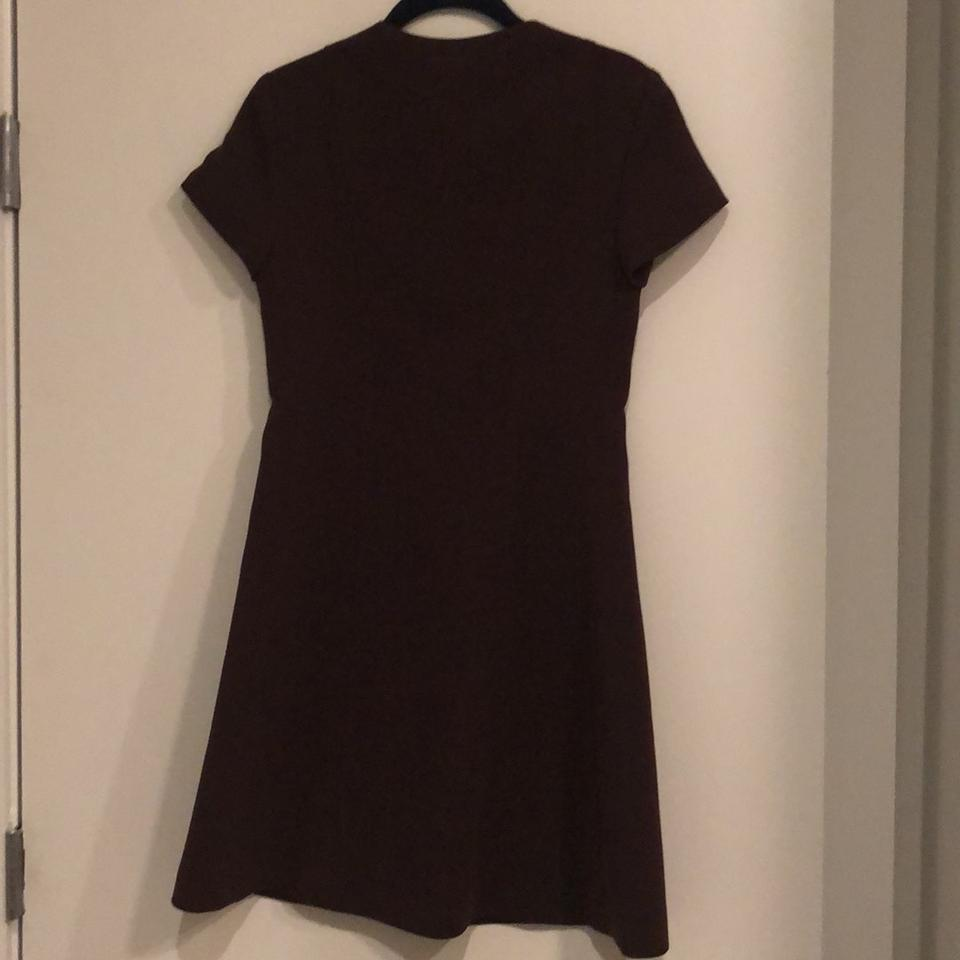 1caf5f6dc60 Theory Burgundy Corset Tee Admiral Crepe Short Work Office Dress ...