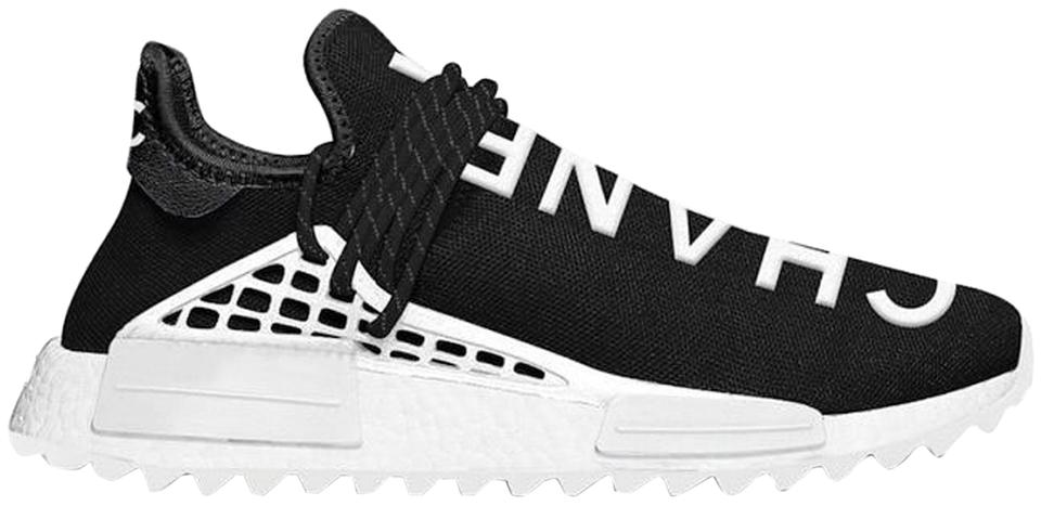 pretty nice d9a71 9fa1f Chanel Black Pharrell Adidas Human Race Nmd Hu Sneakers Size US 4.5 Regular  (M, B)