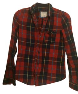 Abercrombie & Fitch Fall Winter Button Down Shirt red plaid