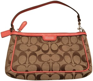 Coach Wristlet in Multi/pink trim