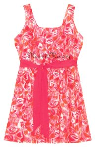 Garnet Hill short dress Pink, Orange, Red Sundress Floral New Without Tags on Tradesy
