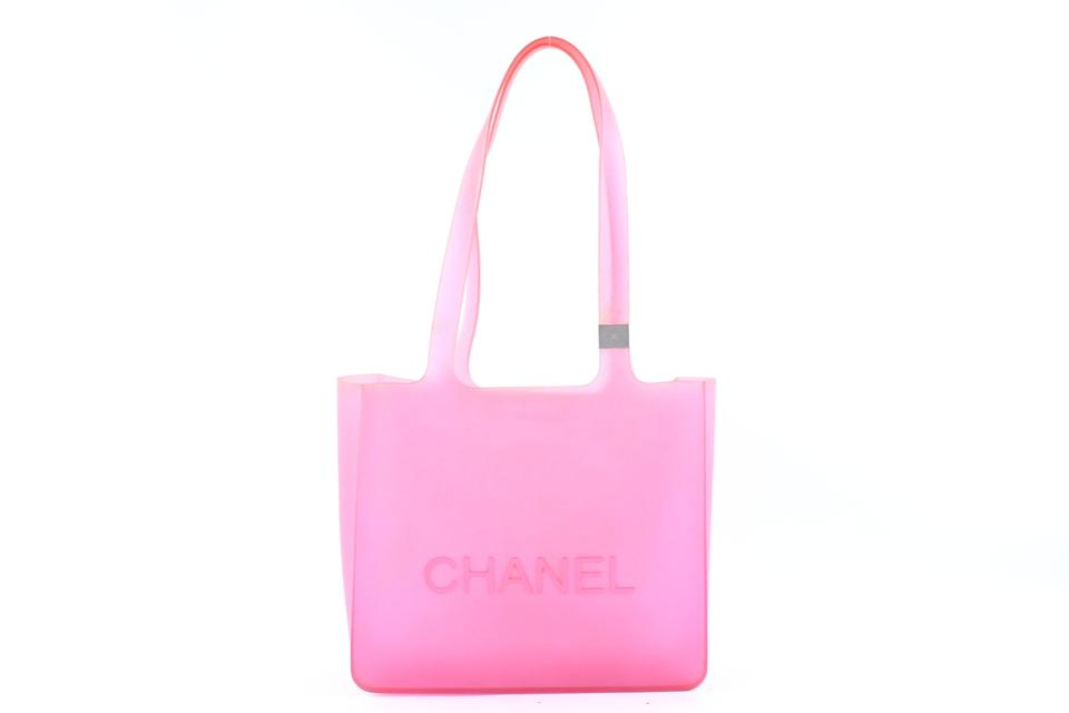 986e0473d6c17c Chanel Jelly Tote Clear Tote Beach See Through Shoulder Bag Image 0 ...