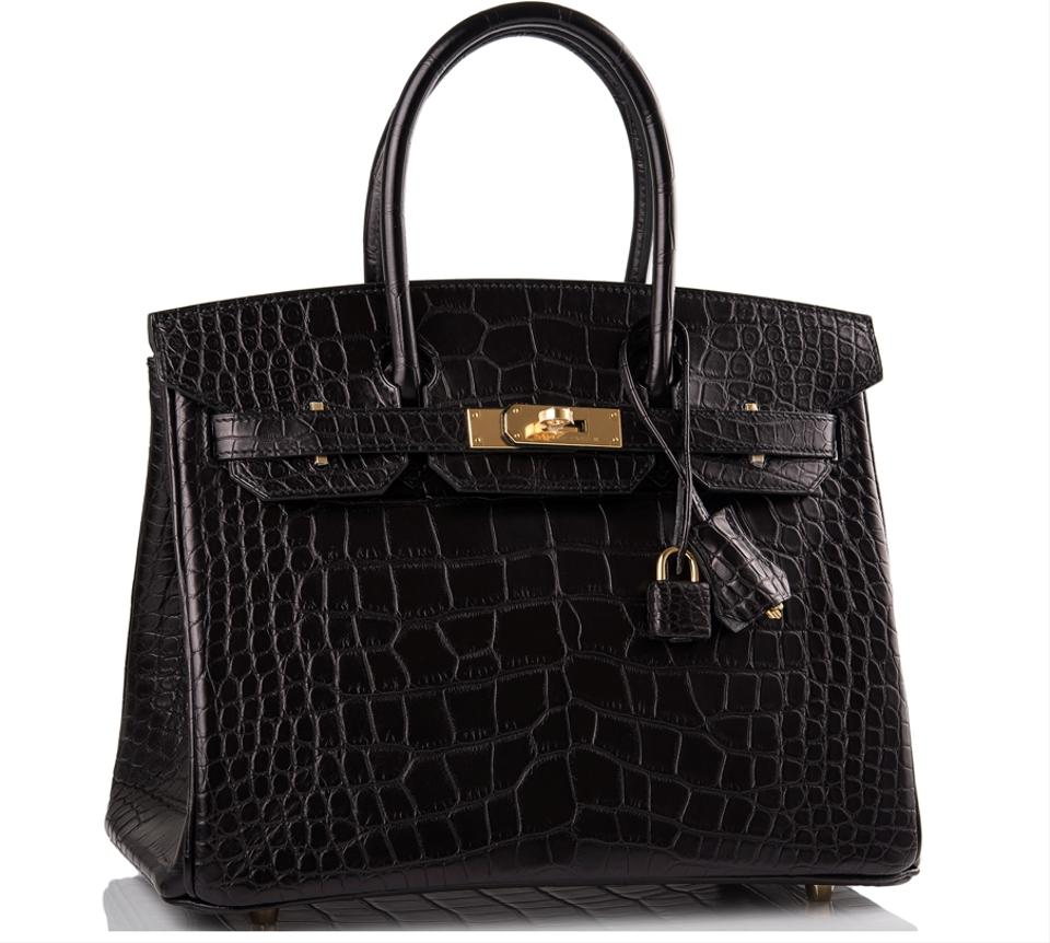Hermès Birkin Gold Hardware Matte Black Mississippiensis Alligator Leather  Satchel - Tradesy 40eed319e90b1
