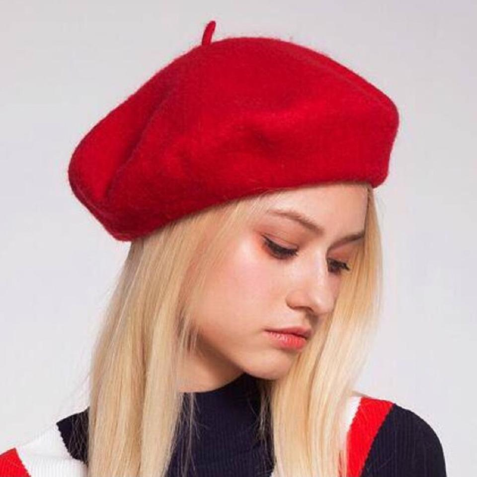 1c8d9747 Other Red Wool Beret Hat Image 3. 1234