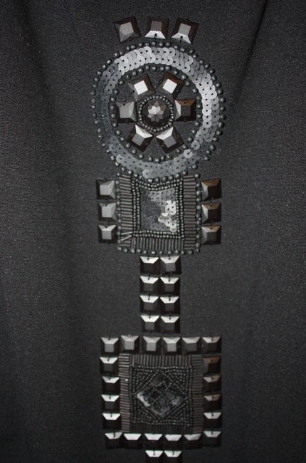 Theory short dress Black Beaded Little Size 8 Aztec-pattern Sale on Tradesy Image 3