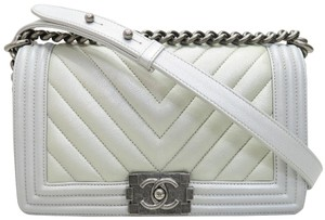 Chanel Caviar Boy Chevron Shoulder Bag