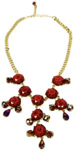 Leslie Danzis Multi-Cut Crystal and Bead Bib Necklace