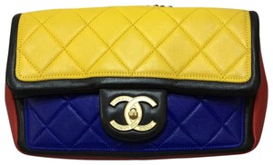 Chanel Calfskin Leather Single Flap Shoulder Bag