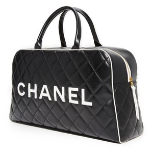 5a8d6feb2360 Chanel Duffel Duffle Boston Black and White Travel Bag · Chanel. Limited  Edition Vintage Duffel Tote ...