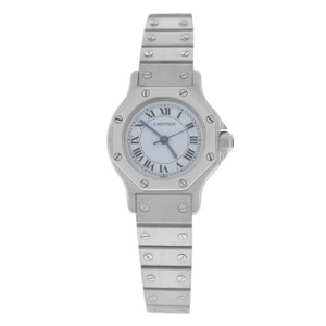 Cartier Authentic Ladies Cartier Santos Octagon Stainless Steel Automatic 25MM
