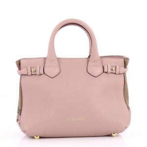 Burberry Leather Tote in Pink