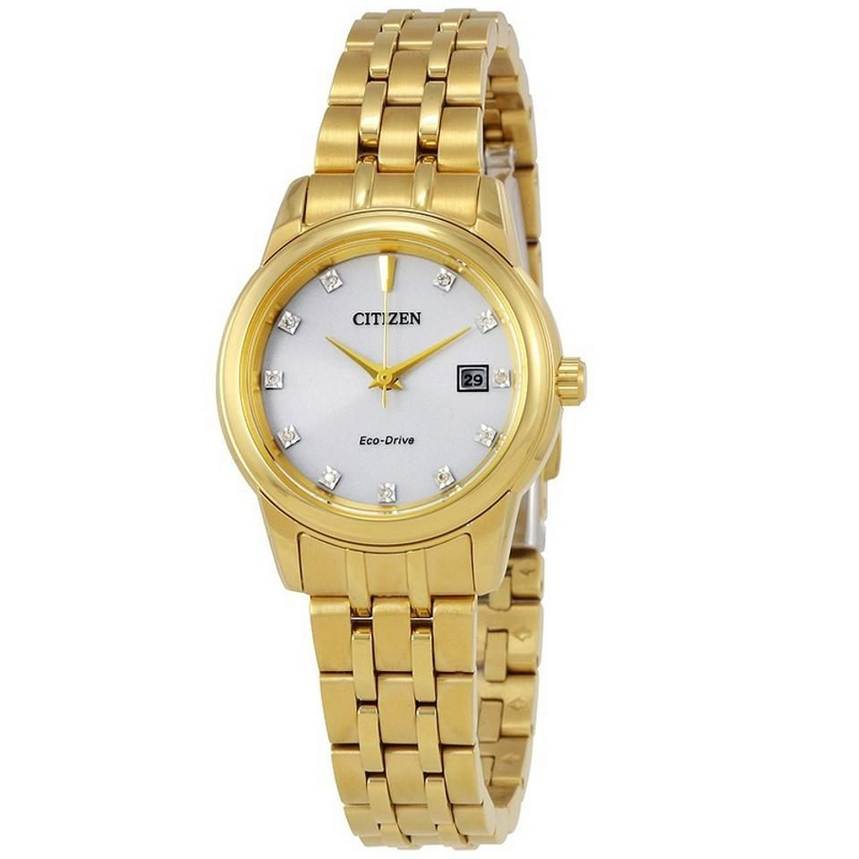 Citizen Ew2392 54a Women S Gold Steel Band With Silver Analog Dial Watch 57 Off Retail