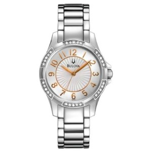 Bulova 96L161 Women's Silver Steel Band With Silver Analog Dial Watch