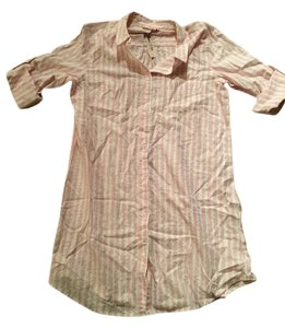 Victoria's Secret Button Down Shirt Pink And White