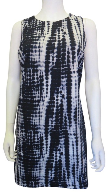 Item - Blue White Water Colors Short Casual Dress Size 8 (M)