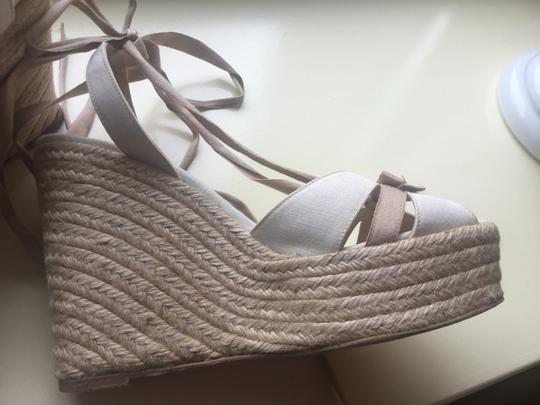 Christian Louboutin Natural Wedges
