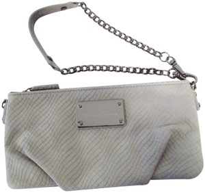Kenneth Cole Leather Classic Snakeprint Wristlet in Black