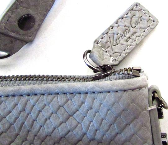 Kenneth Cole Leather Classic Snakeprint Wristlet in Black Image 3