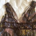 Scanlan Theodore Purple/Brown/Gold/Punk/Blue Patterned Australian Designer's Tank Mid-length Work/Office Dress Size 6 (S) Scanlan Theodore Purple/Brown/Gold/Punk/Blue Patterned Australian Designer's Tank Mid-length Work/Office Dress Size 6 (S) Image 3