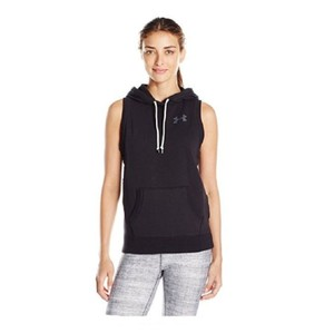 Under Armour Under Armour Favorite Fleece Word Mark Vest Hoodie Black M