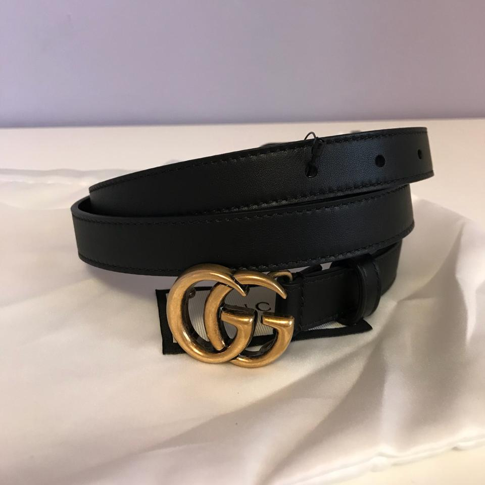 0a1ac62be Gucci Brand New Size 90/36 GG-logo 2cm leather belt Image 10. 1234567891011