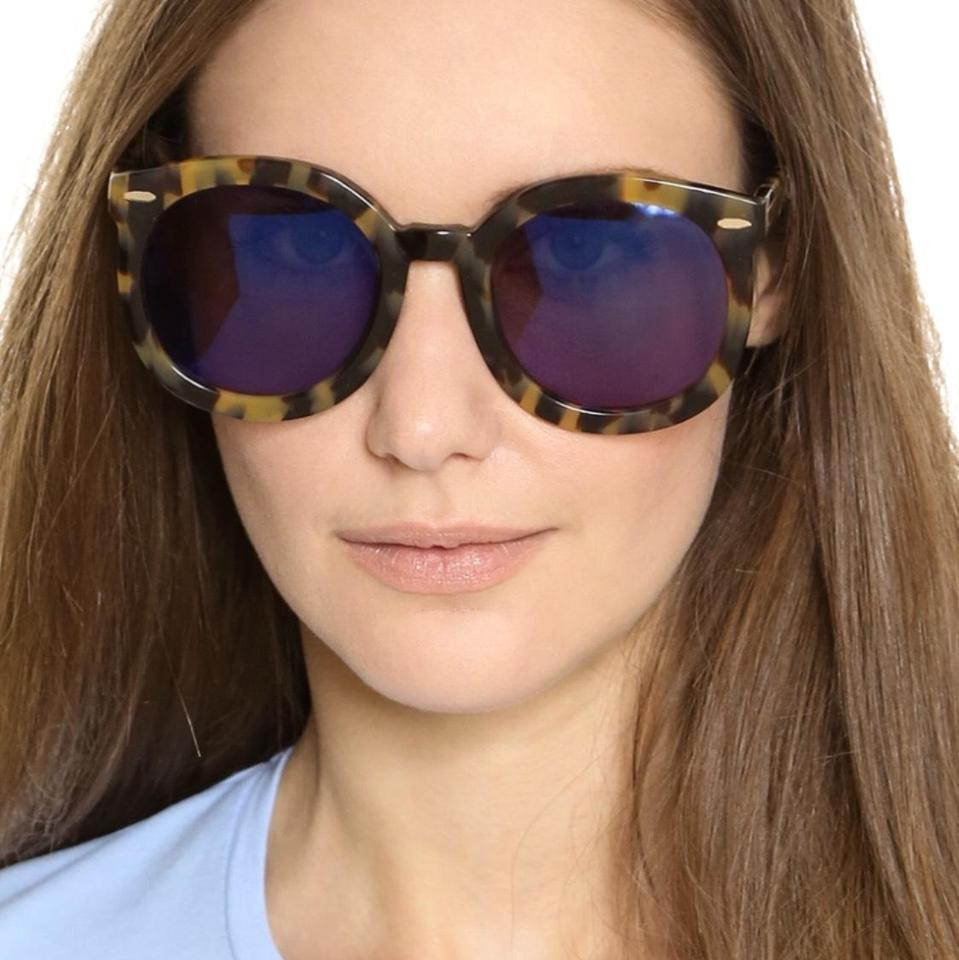 50427182bc9 Karen Walker Tortoiseshell  Gold Super Spaceship Sunglasses - Tradesy