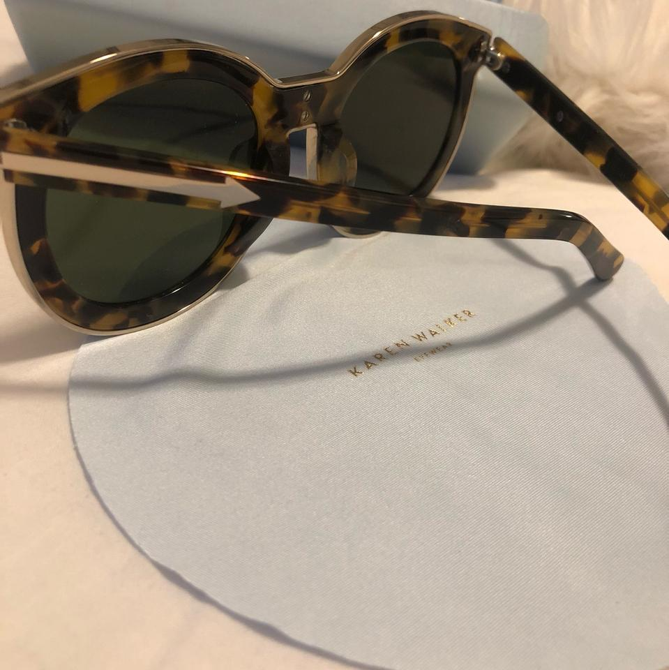 c10c438f65ba Karen Walker Tortoiseshell/ Gold Super Spaceship Sunglasses - Tradesy