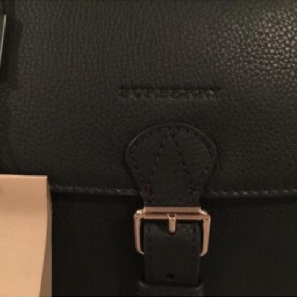 190d1f1d949a Burberry Medium Harcourt Check Black Leather Satchel - Tradesy