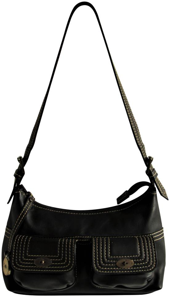 822b60294ee8 Mulberry Vintage Front Pockets Small Shoulder Bag- Black Leather ...