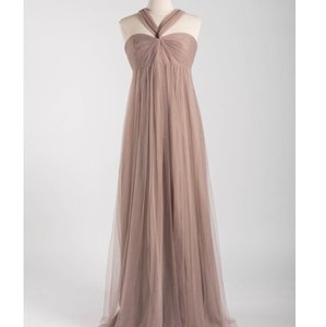 Monique Lhuillier Mink Tulle 450347 Feminine Bridesmaid/Mob Dress Size 8 (M)
