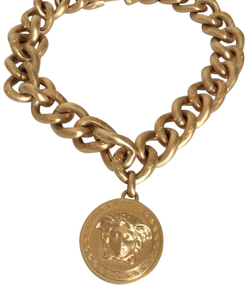 Versace Gold New Tone Medusa Iconic Chain Necklace - Tradesy