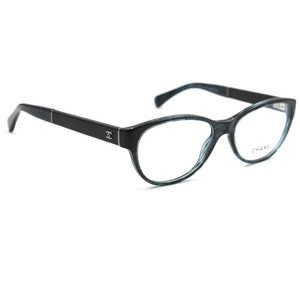 Chanel Chanel 3309Q Eyeglasses Dark Blue with Black Leather Frame