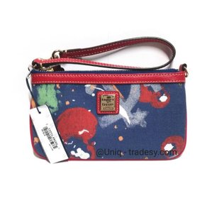 Dooney & Bourke Wristlet in __ L A S T 1 __ S A L E __ Multi and Blue / Gold Hardware
