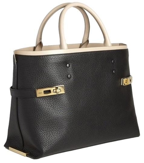 Chloé Tote in Black/Cream