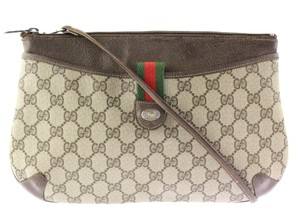 Gucci Made In Italy Accessory Collection Monogram Leather Supreme Cross Body Bag