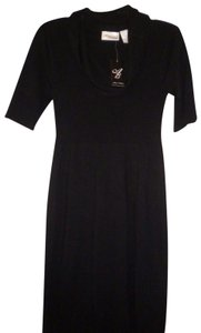 Allison Brittney Cowl Neck Short Sleeve Stretch Dress