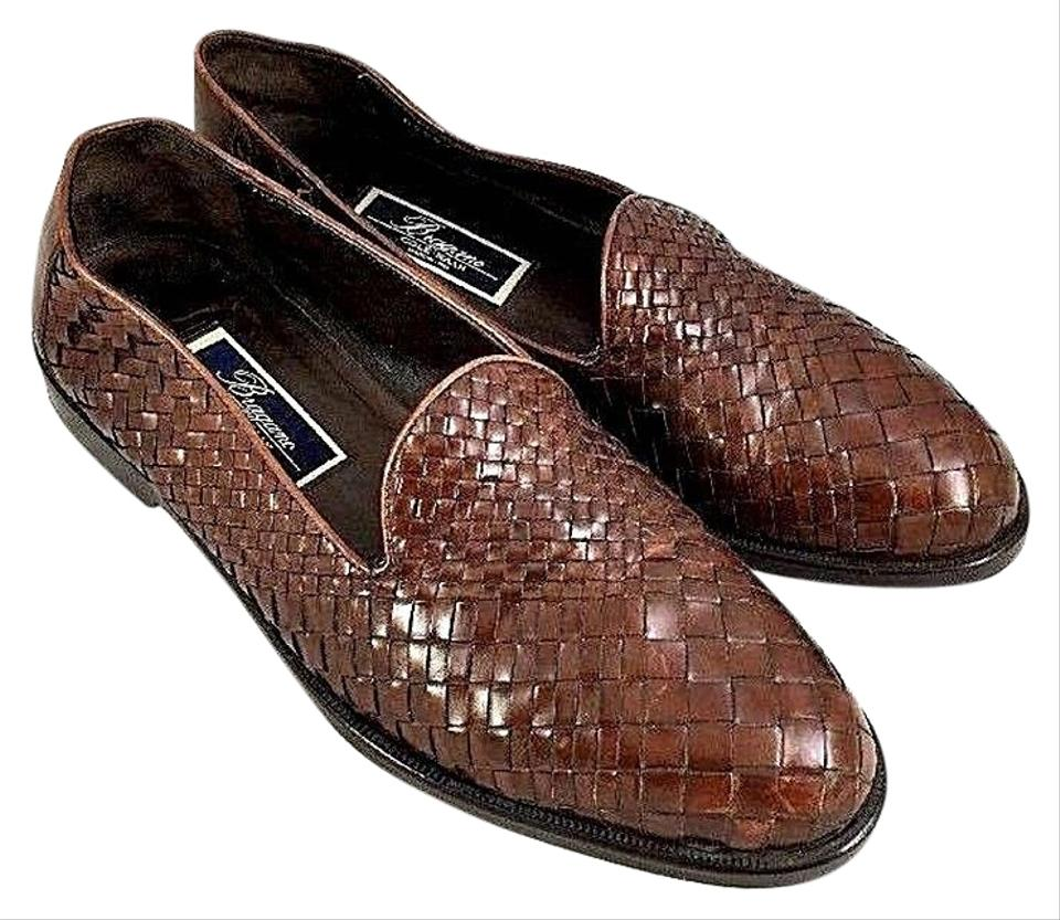 9a4338ec247 Cole Haan Brown Bragano Woven Loafer Leather Men M Slip On Formal ...