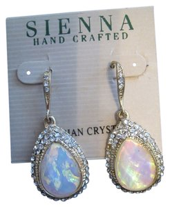 Sienna Gold-tone Austrian Crystal Wire Earrings FREE SHIPPING