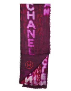 Chanel Chanel Purple, Red & Pink Cashmere Scarf
