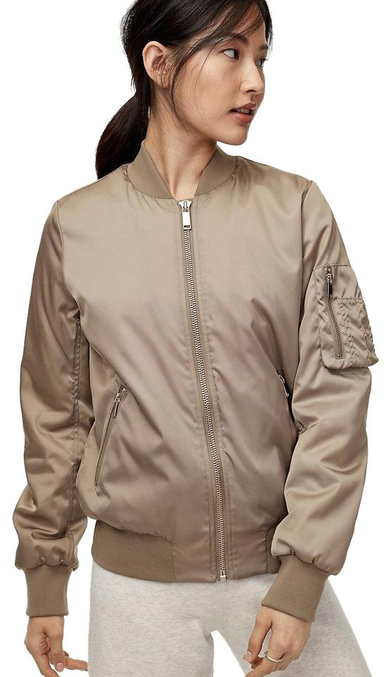 f358c270ac2 Aritzia Modern Taupe The Group By Babaton Gilman Bomber Jacket Size ...