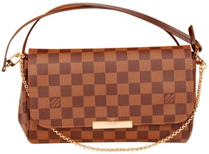 Louis Vuitton Favorite Mm Damier Canvas Clutch Shoulder New Cross Body Bag